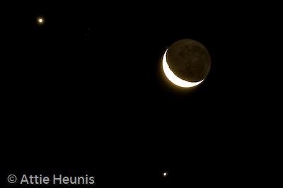 Jupiter, Venus & our Moon