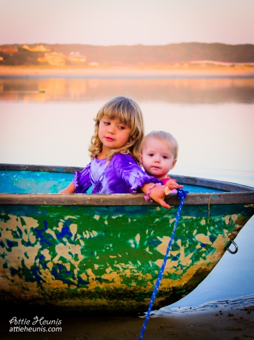 Elke & Cara exploring on a boat
