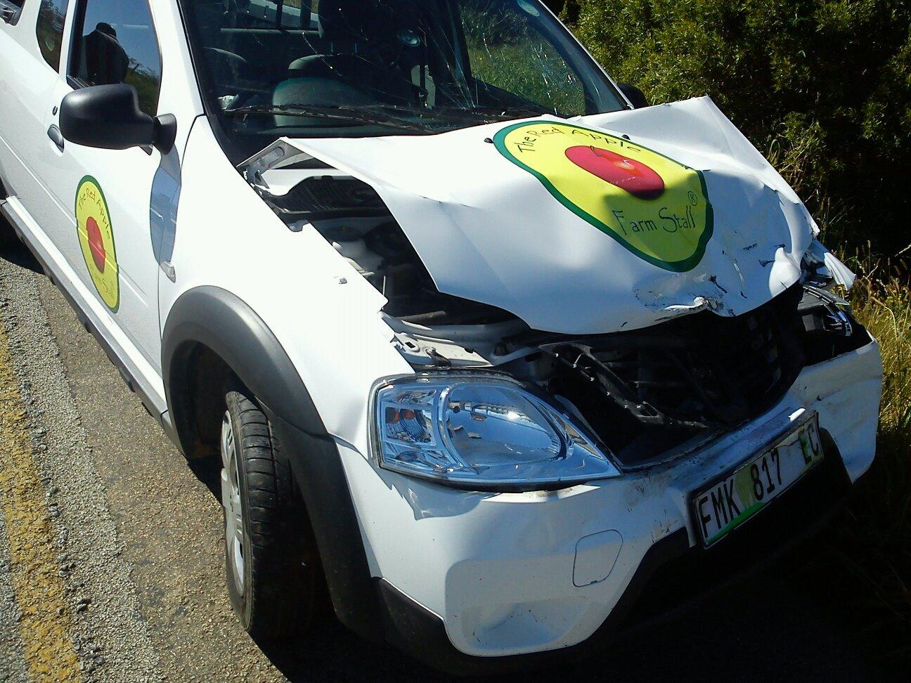 Smashed Nissan NP200
