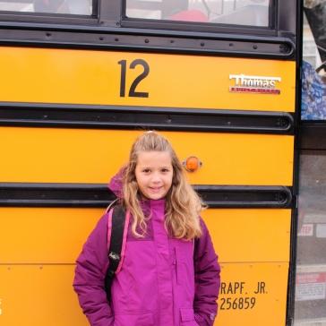 Elke's first school bus